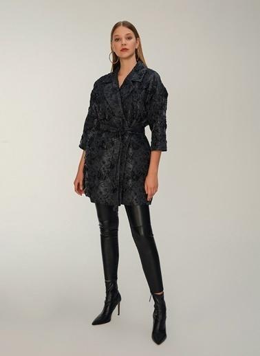 NGSTYLE Jakar Desenli Ceket Siyah